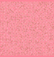 pattern with crosses on pink background vector image