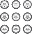 set of hand drawn eco frendly labels vector image