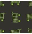 shopping cart seamless pattern Marketing vector image
