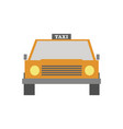 taxi front view vector image