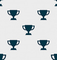 Trophy Cup icon sign Seamless pattern with vector image