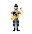 Paintball Player Flat style colorful vector image