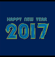 Creative New Year Greeting for 2017 vector image