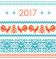 2017 New Year greeting card template vector image
