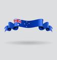 Australian wavy flag vector image