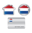 Home icon on the Netherlands flag vector image
