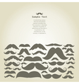 Moustaches vector image
