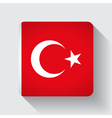Web button with flag of Turkey vector image