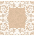 Vintage lace invitation card vector image vector image