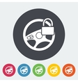Car Steering Wheel flat icon vector image vector image