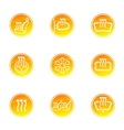 Car heating icons vector image