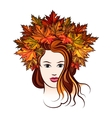 Woman with Leaf Wreath vector image