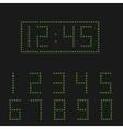 Green digital numbers vector image