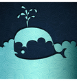 Cute Whale vector image vector image