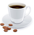 Cup of coffee with grain vector image
