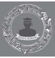 education abstract background vector image