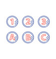 grade mark line icons upgrade class fast services vector image