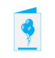 isolated birthday card vector image