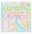 Olympics to Damage UK Tourism text background vector image