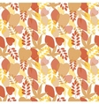 Seamless bright leaves pattern vector image