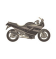 sport motorbike icon side view isolated extreme vector image