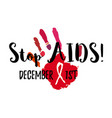 stop aids vector image