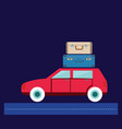 travel car car with luggage vector image