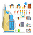 IT Office Constructor Set vector image