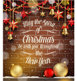 Set of Christmas signs emblems and Greetings vector image