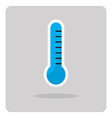 flat icon thermometer vector image vector image
