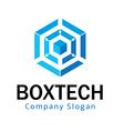 Hexagon Tech Design vector image