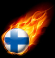 Round glossy icon of finland vector image