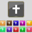religious cross Christian icon sign Set with vector image
