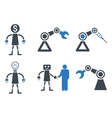 Robot Flat Icons vector image
