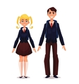 Students in school uniform vector image