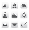 Travel set of logos vector image vector image