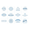Set of School or College Identity Elements can be vector image
