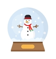 Christmas Snow Globe With funny Snowman vector image
