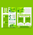 earth day brochures green nature energy vector image