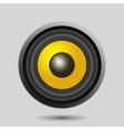 Audio Speaker on Light Background vector image