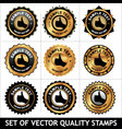 set of quality stamps vector image