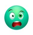 Surprised emoticon vector image
