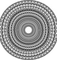 Round ornament with tribal motifs vector image vector image