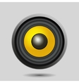 Audio Speaker on Light Background vector image
