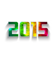 colored polygonal 2015 year vector image