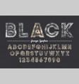 extra bold decorative bold font design grunge vector image