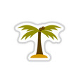 labels with shadow flat icon palm tree silhouette vector image