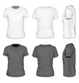 Men white and black short sleeve t-shirt vector image