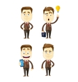 set of businessman in different poses manager vector image