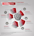 Teamwork infographic vector image